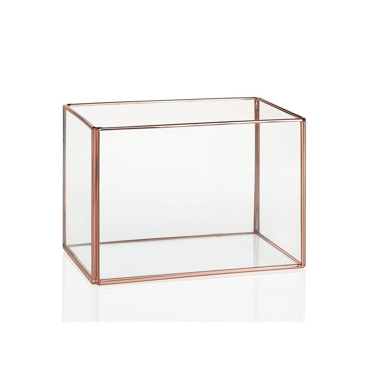 terrarium verre et cuivre
