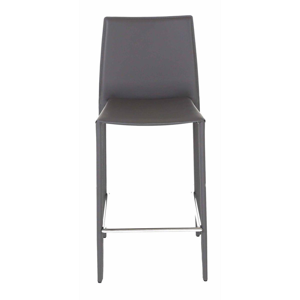 2 x Chaise plan de travail grise Boréale