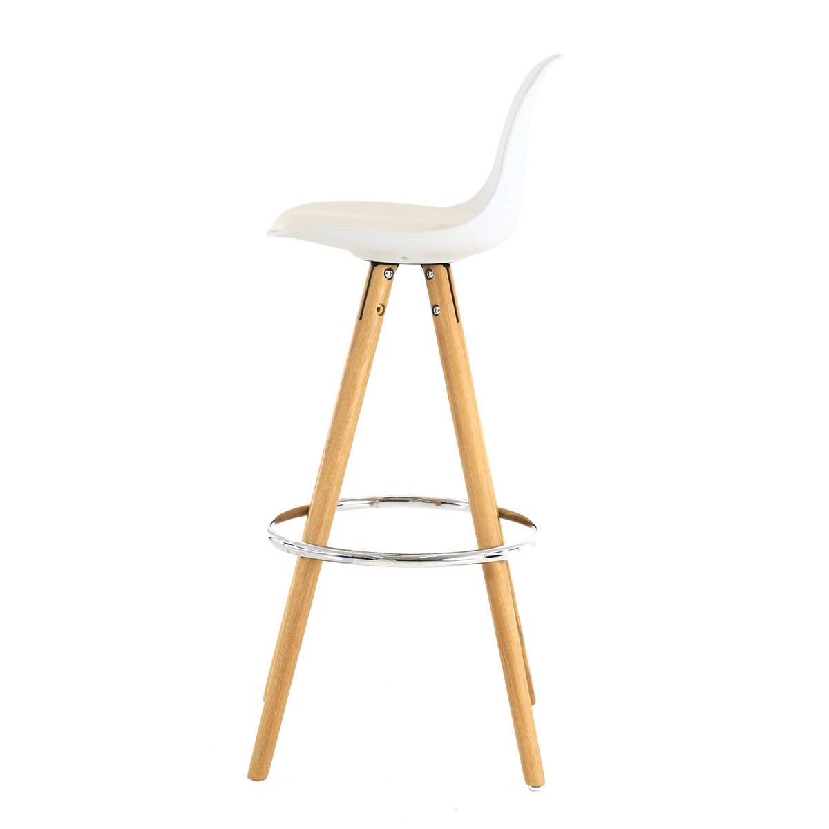 chaise haute de bar blanche tr pied en bois style scandinave zago store. Black Bedroom Furniture Sets. Home Design Ideas