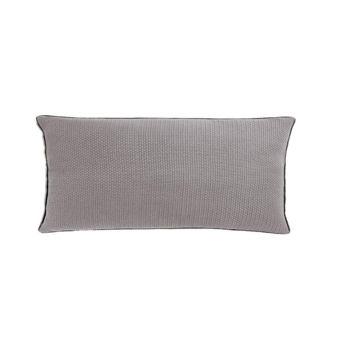 coussin gris rectangulaire 30 x 60 cm style loft industriel isak zago store. Black Bedroom Furniture Sets. Home Design Ideas