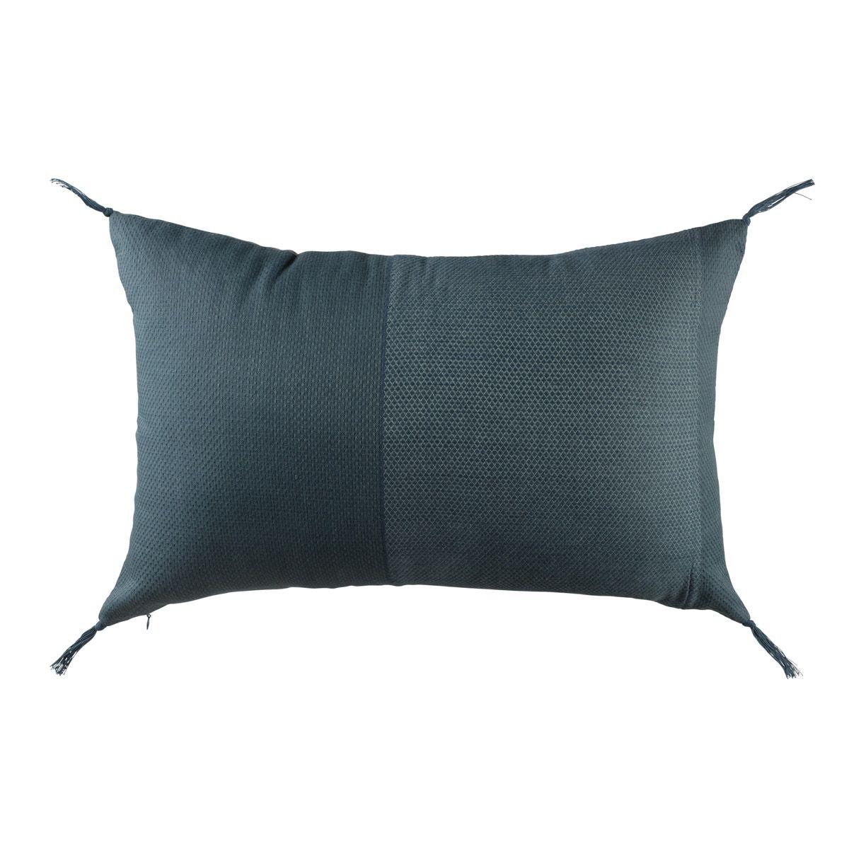 Coussin rectangulaire 35 x 50 cm bleu ROMA
