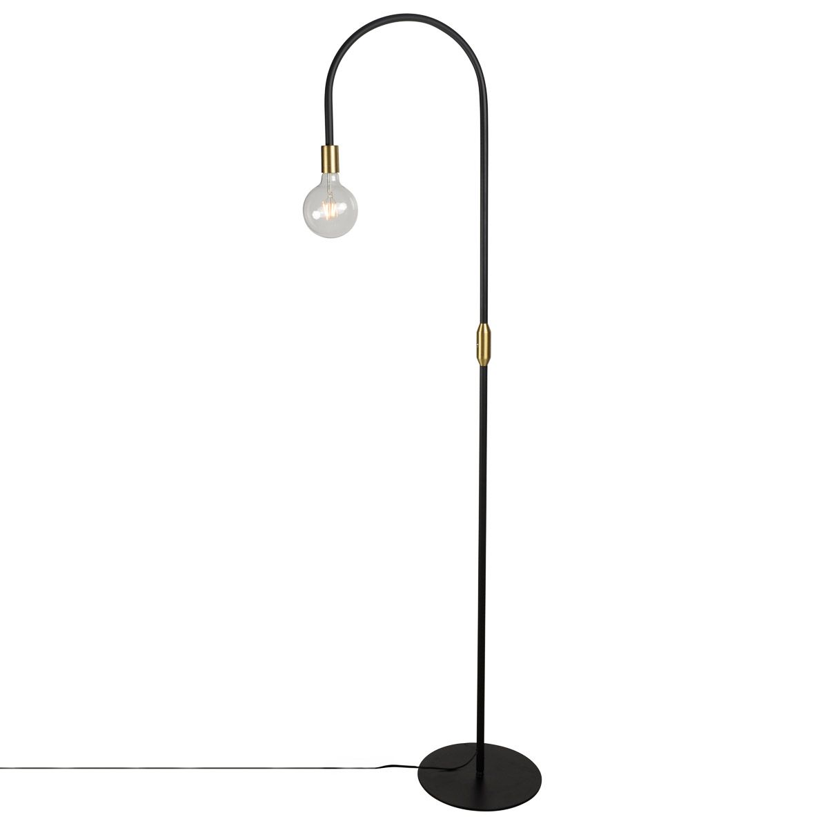 Lampadaire contemporain noir DROP