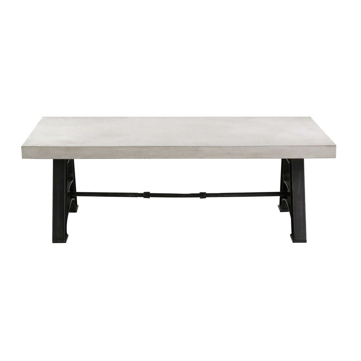 table basse b ton cir et m tal design rectangulaire zago store. Black Bedroom Furniture Sets. Home Design Ideas