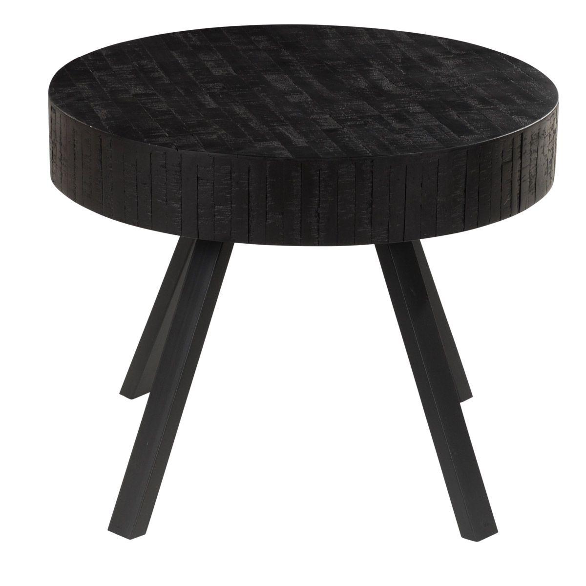 Table basse en teck recyclé noir HARPER