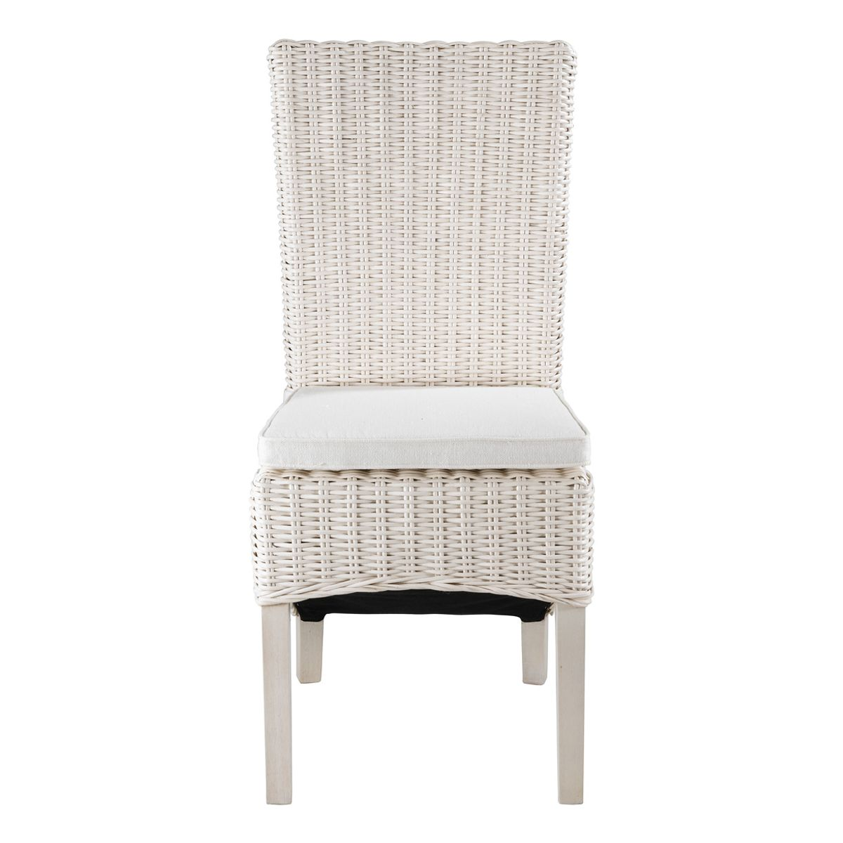 chaise en demi kubu blanc lot de 2 zago store. Black Bedroom Furniture Sets. Home Design Ideas