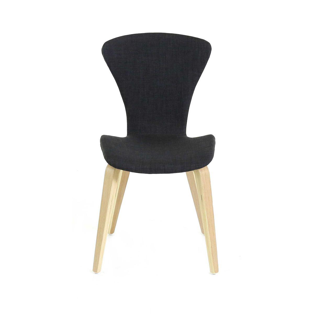 Chaise noire en tissu pi tement ch ne style scandinave zago store - Chaise en bois africaine ...