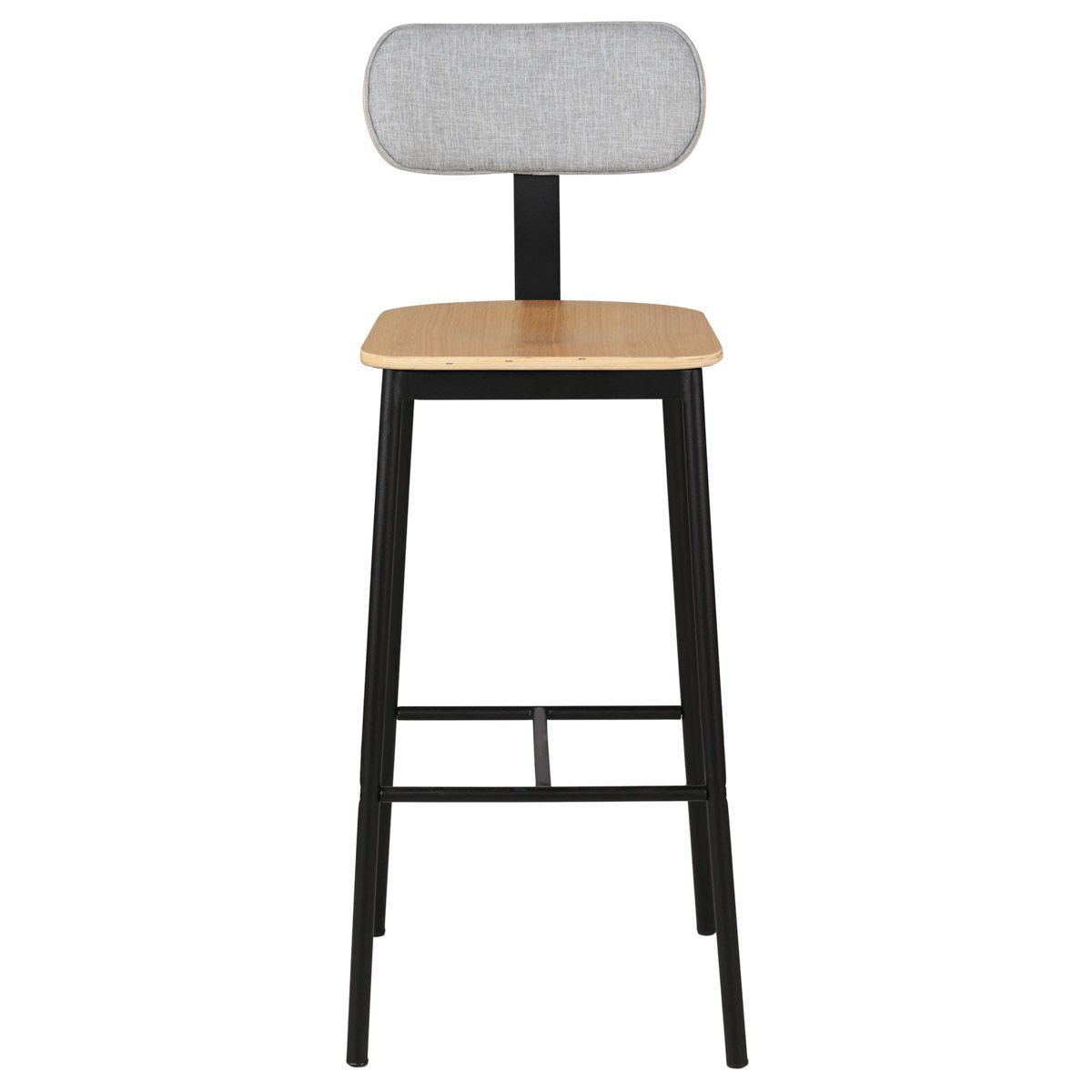 Quel Tissu Pour Chaise chaise de bar bois en chêne plaqué et tissu - structure métal mara