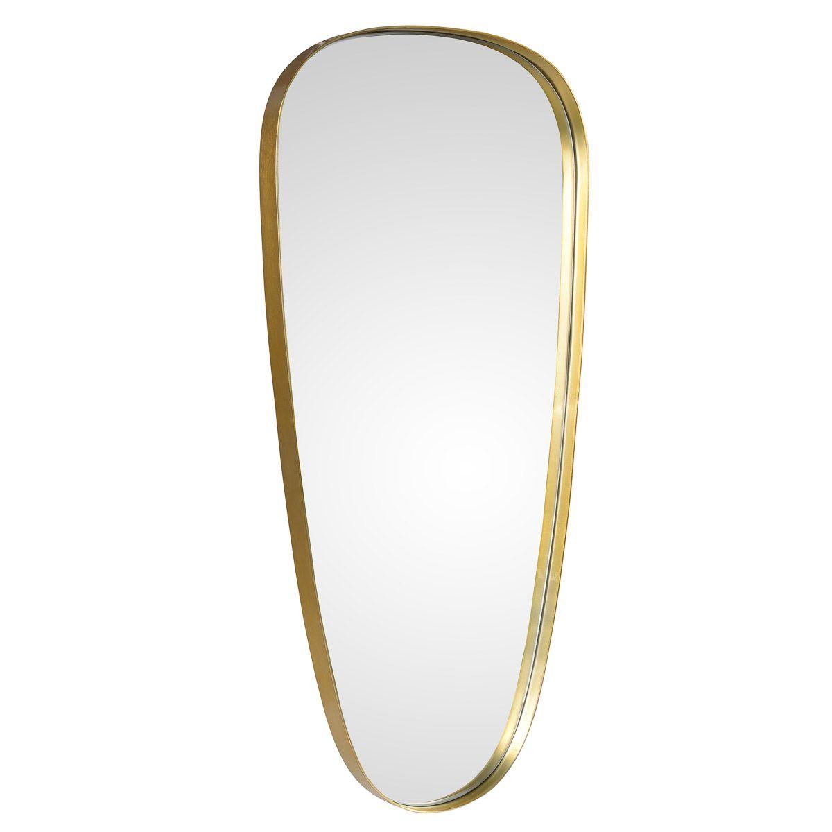 Miroir style indus' finition laiton DALY