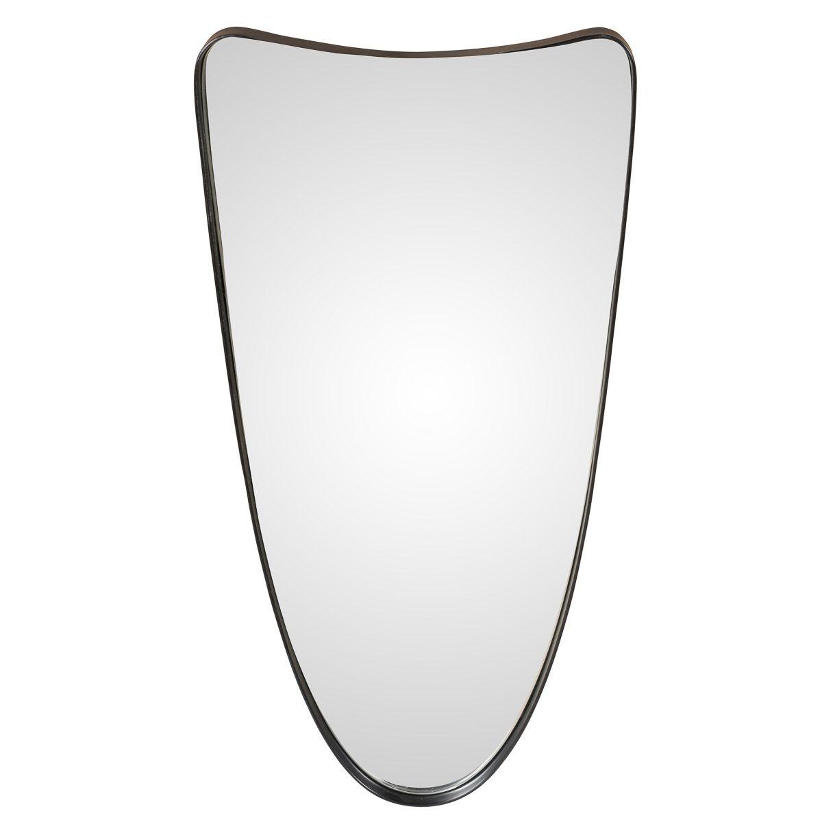 Miroir style industriel finition époxy noir DARWIN