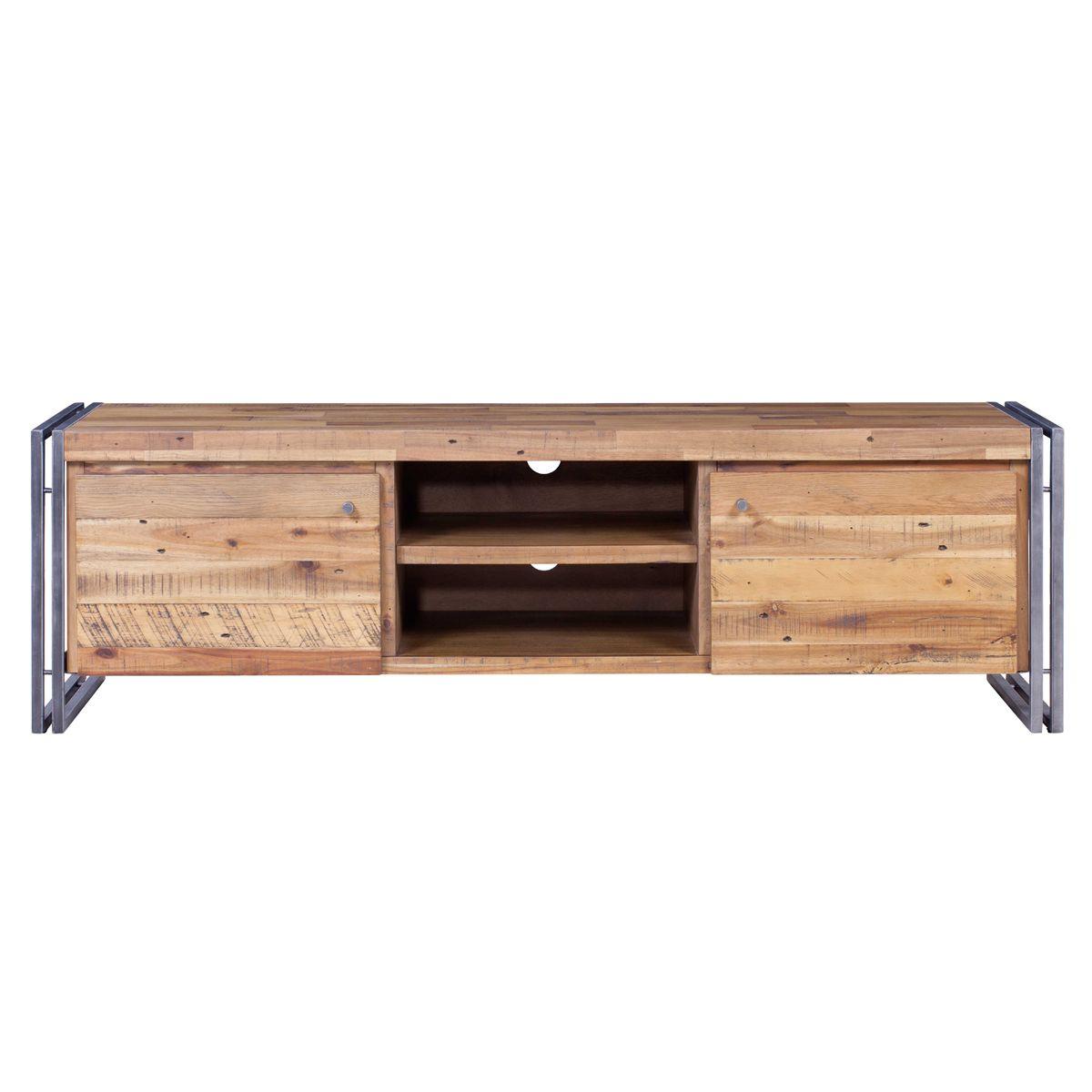 Meuble TV 165 cm bois et métal Omega