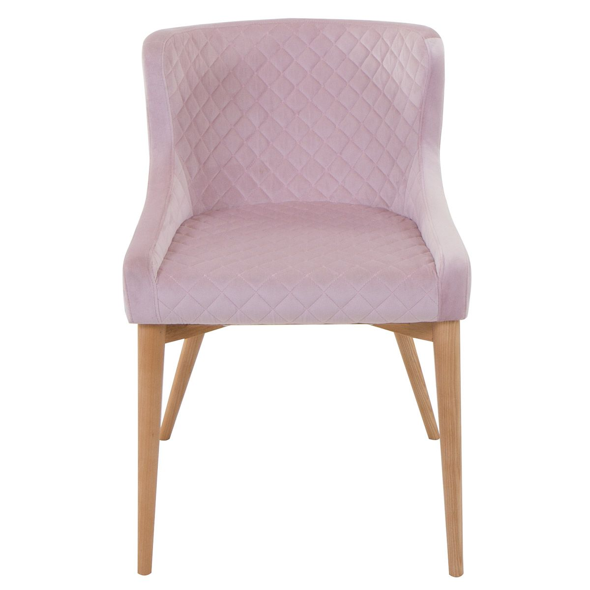 chaise style scandinave en velours rose poudr pi tement fr ne paris zago store. Black Bedroom Furniture Sets. Home Design Ideas