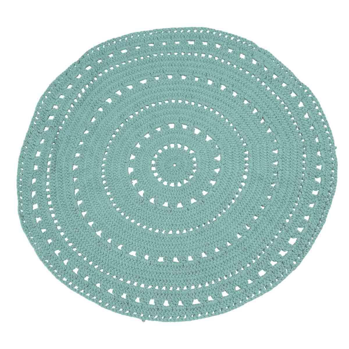 tapis style boheme gipsy coton bleu clair 120 cm umaa zago store. Black Bedroom Furniture Sets. Home Design Ideas