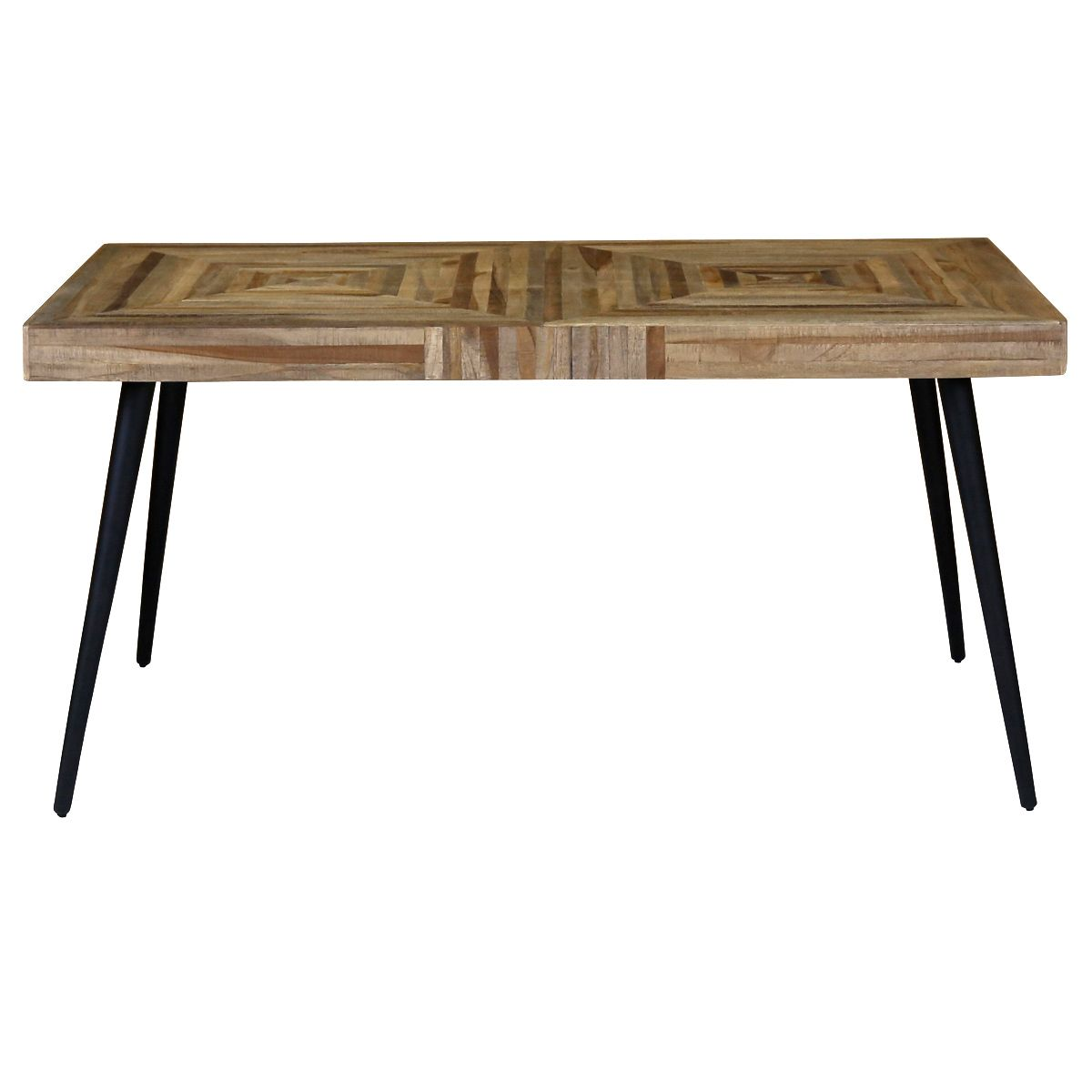 table rectangulaire style industriel 150 x 80 cm en teck et m tal woody zago store. Black Bedroom Furniture Sets. Home Design Ideas