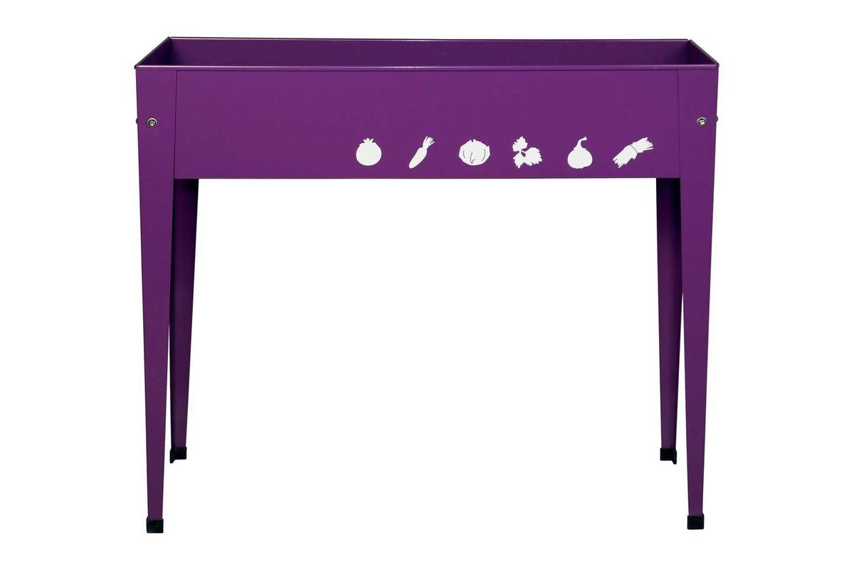 Potager urbain en métal violet