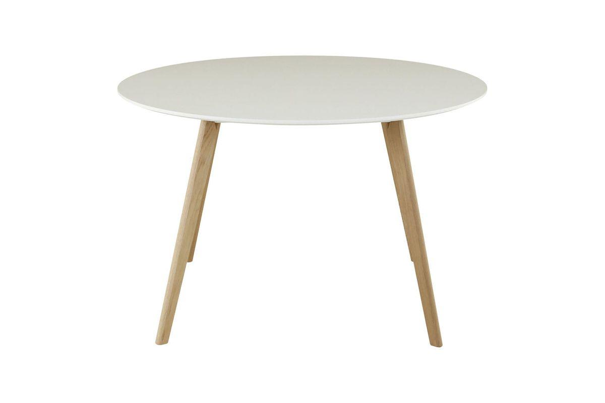 Table ronde laqué blanc 120 cm Scandie
