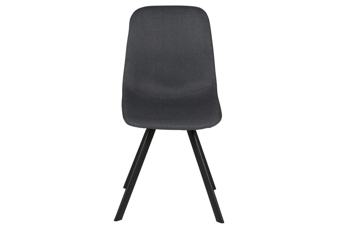 Chaise style naturel essentiel en tissu gris Carl lot de deux