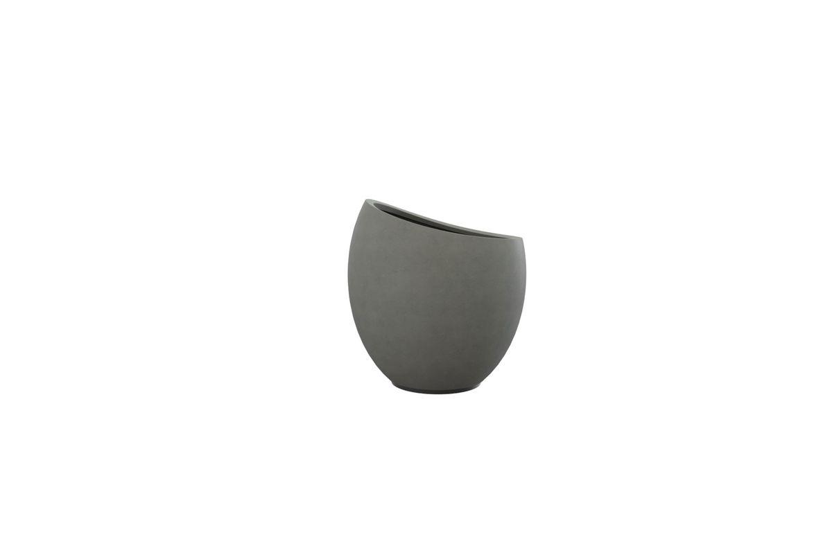 Cache-pot en béton gris foncé Ø 38 cm Dakao