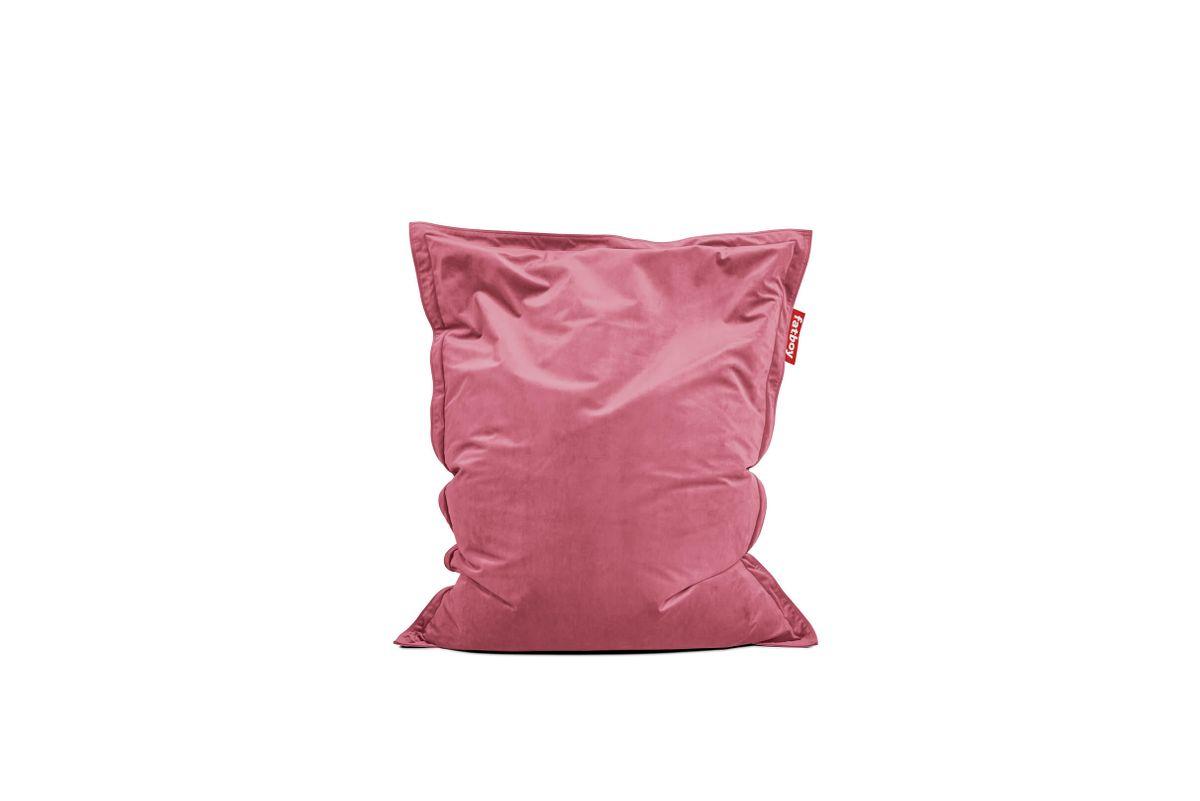 pouf en velours rose original slim