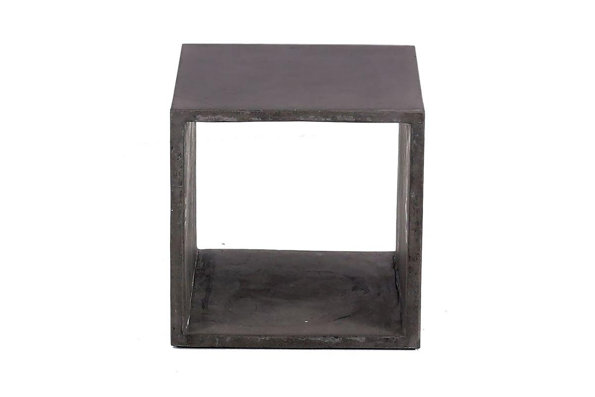 Cube de rangement béton 40x40 cm gris foncé Hermitage