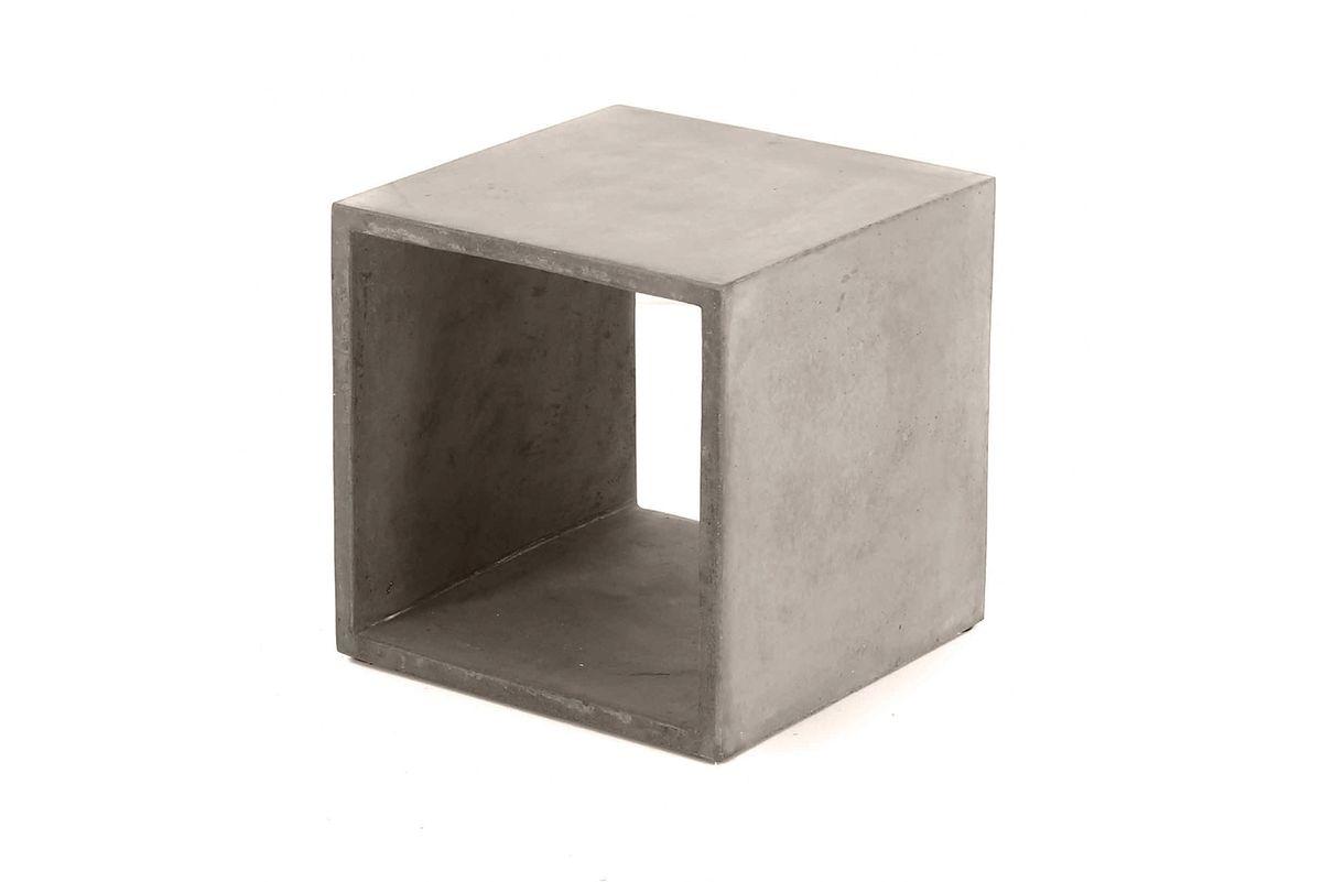Cube de rangement béton 40X40 cm gris clair Hermitage