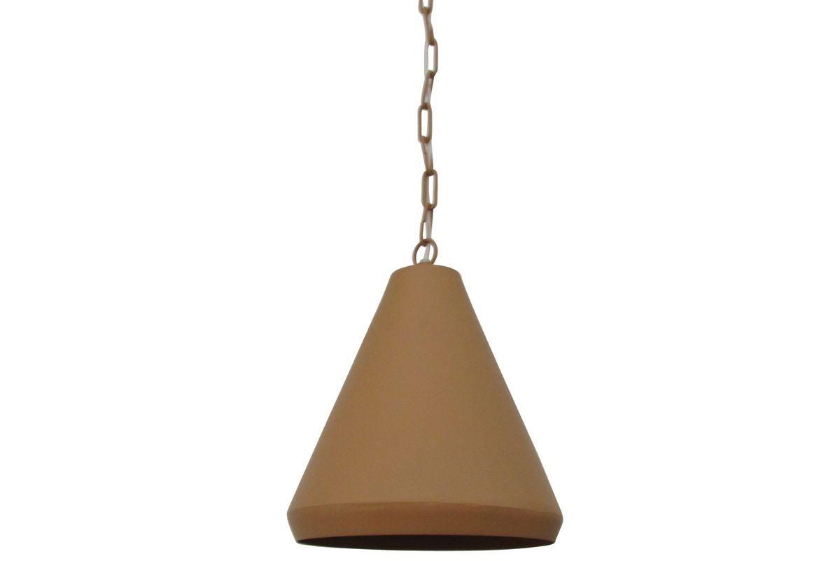 Lampe style industriel métal jaune moutarde Conik