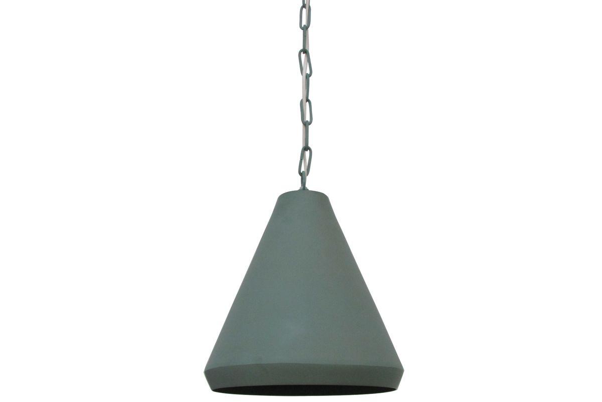 Lampe style industriel métal vert mint Conik