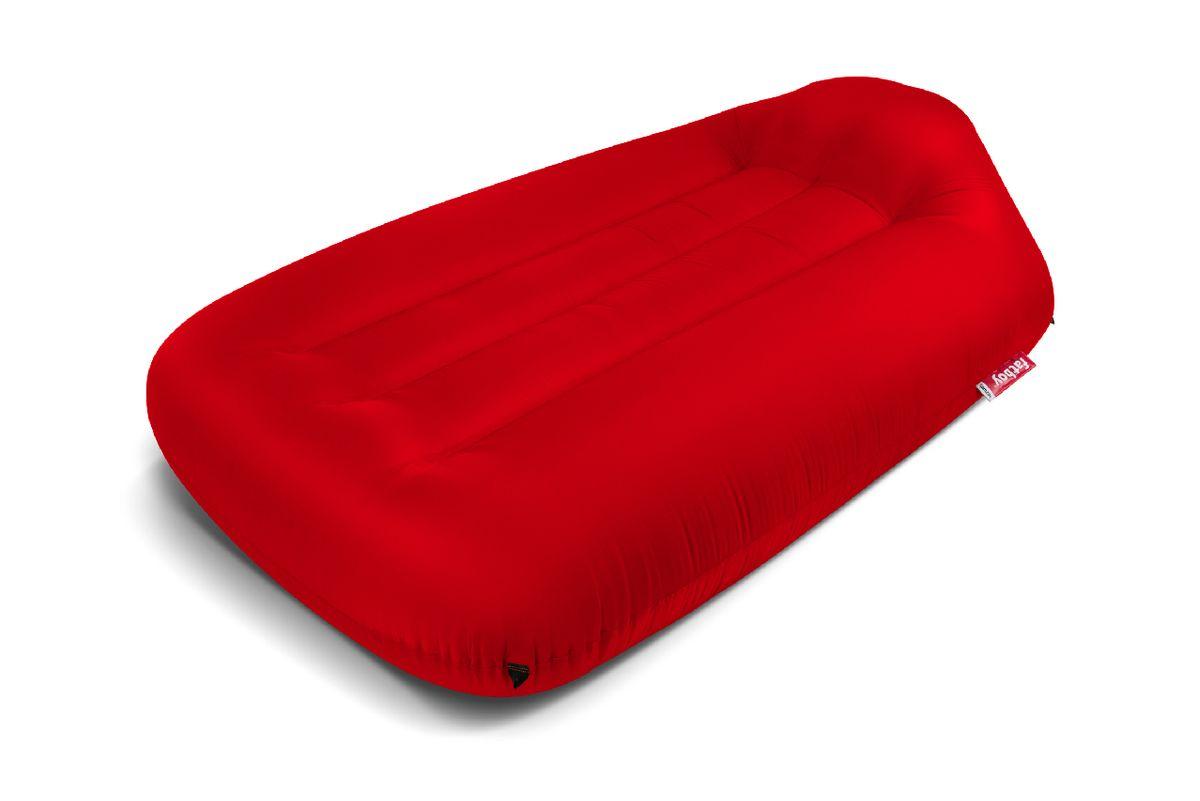 Pouf gonflable large rouge Lamzac L