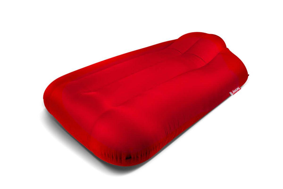 Pouf gonflable géant rouge Lamzac XXXL