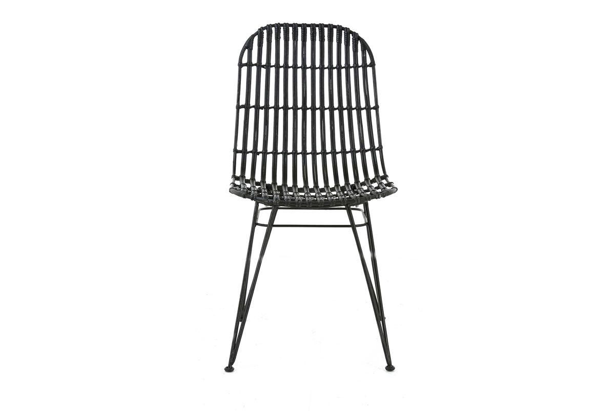 chaise kubu et métal noir
