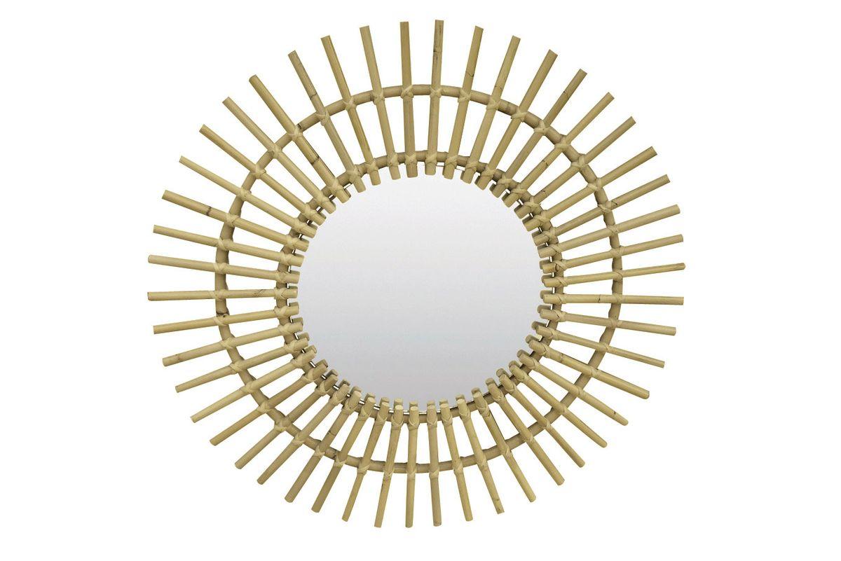 miroir mural, miroir rond, miroir naturel, miroir kubu