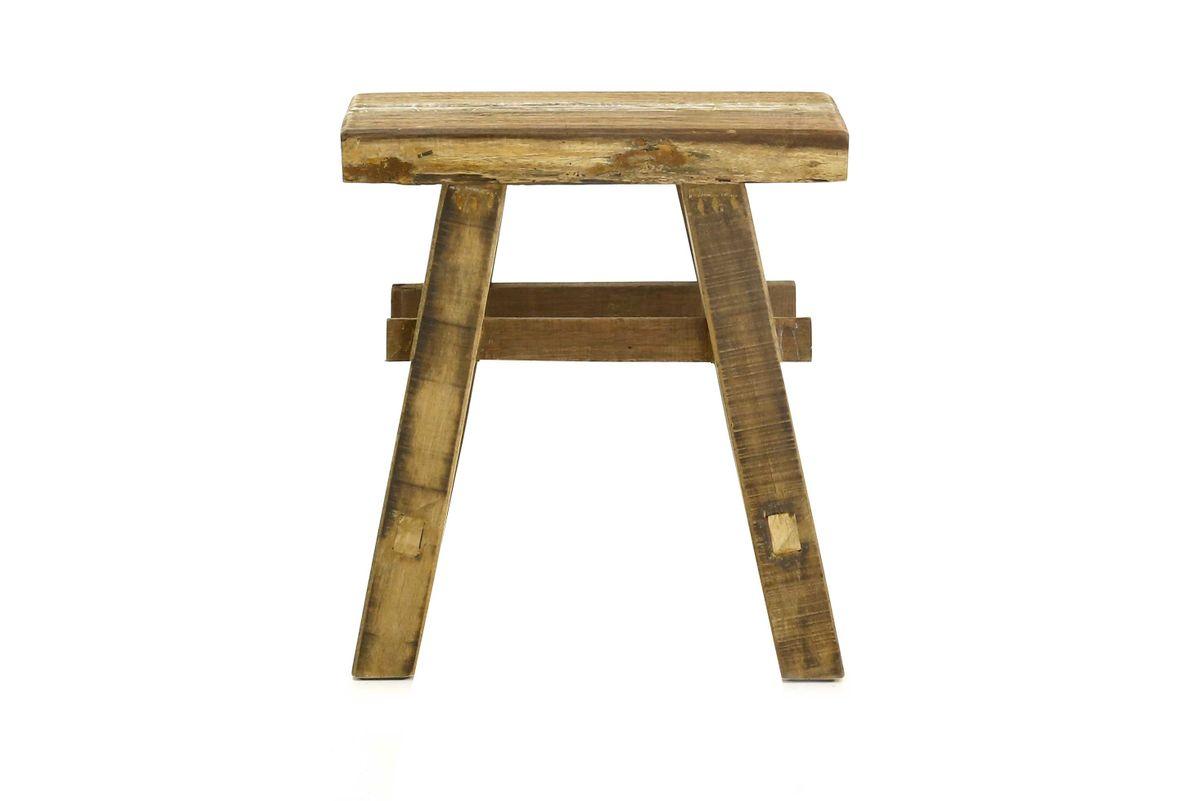 banc bois recyclé 50 cm
