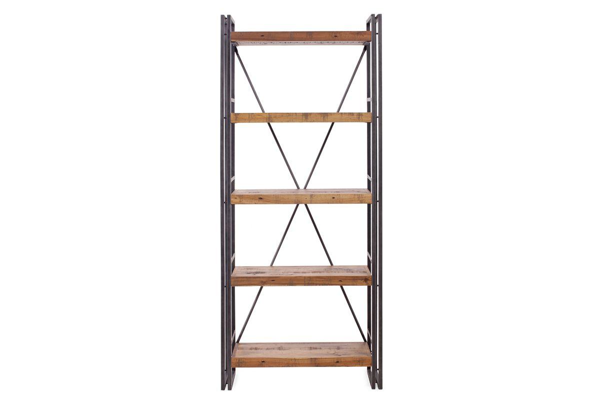 Bibliothèque bois et métal Omega