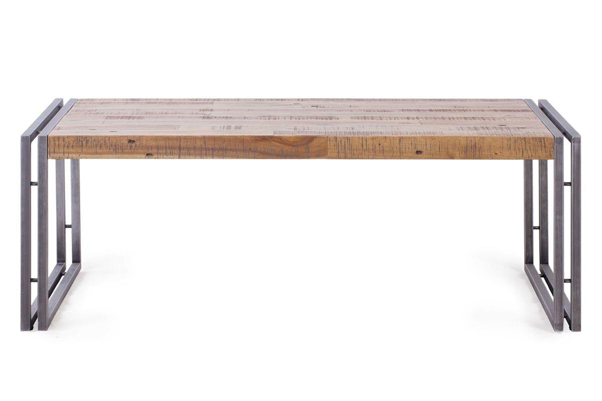 Table basse rectangulaire bois et métal Omega