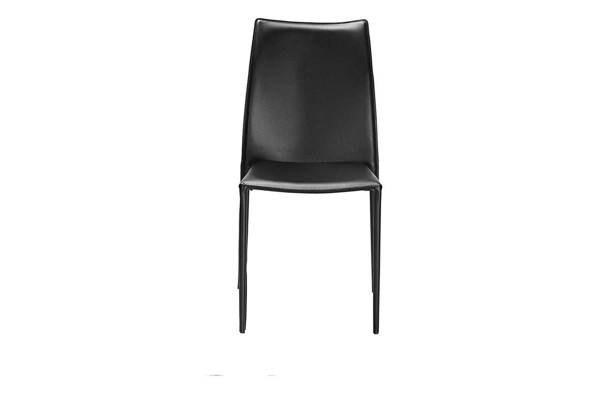 Chaise de repas synderme noire Solène (lot de 2)