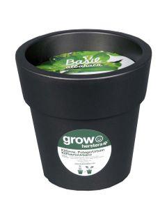 Kit basilic à faire pousser en pot 24 cm anthracite