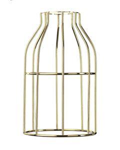 Abat-jour cage gold Hoopzi