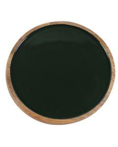 Assiette décorative verte foncée en bois de manguier Ø 35 cm Aloha