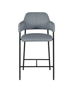 Chaise accoudoirs plan de travail tissu piètement métal h65 cm Arty