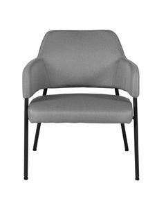 Fauteuil tissu gris foncé structure métal noir Arty
