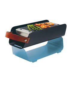 Barbecue portable en métal bleu