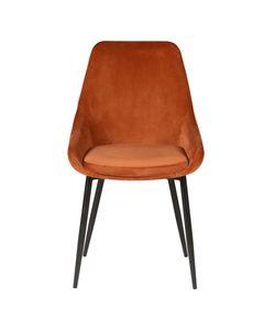 Chaise en velours cognac BARI