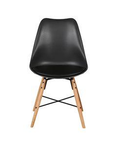 Chaise scandinave à coque et piétement croisillon BINGO