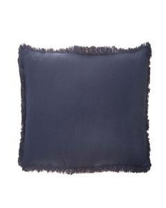 Housse de coussin en coton bleu 45x 45 cm Enes
