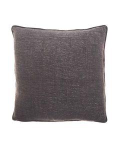 Housse de coussin en coton et lurex gris 45 x 45 Eris