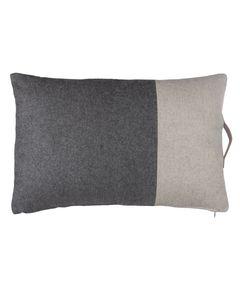 Coussin gris clair et gris foncé 40 x 60 cm en laine Forks