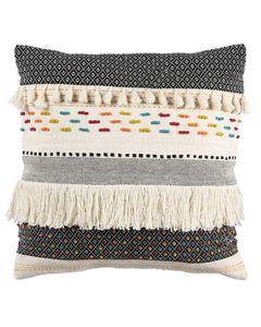 Coussin à franges tricoté à la main 50 x 50 cm Fringe