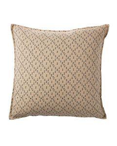 Housse de coussin carrée en coton écru 45 x 45 cm imprimé Gina