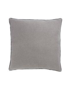 Housse de coussin en coton gris carrée 60 x 60 cm Isak