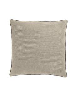 Housse de coussin en coton beige carrée 60 x 60 cm Isak
