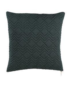 Coussin en coton vert à motifs géométriques 45 x 45 cm